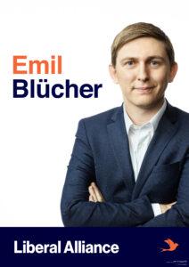 Emil Blücher valgplakat