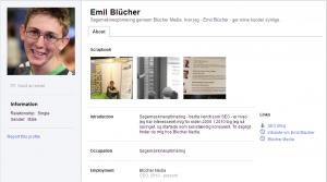 Emil Blüchers Google Profil